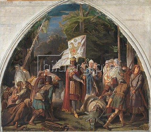 Alfred Rethel: Der Sturz der Irminsul. 1846/48.