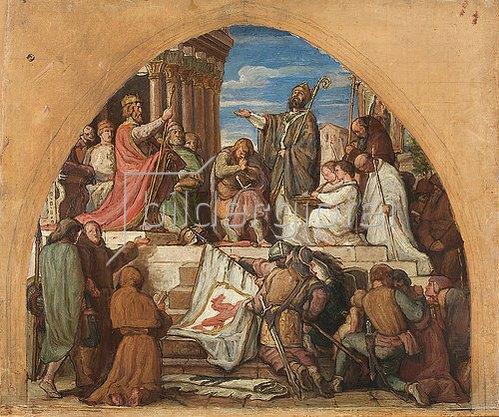 Alfred Rethel: Die Taufe Wittekinds. 1853