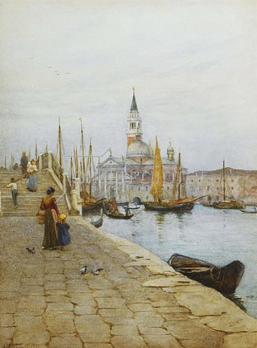 Helen Allingham: San Giorgio Maggiore von Zattere aus, Venedig.