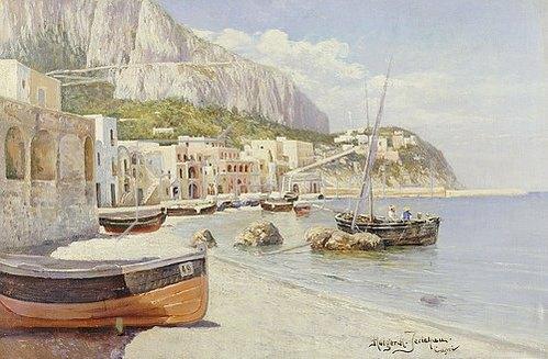 Holger H Jerichau: Marina Grande, Capri.