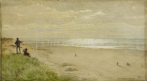 Hans Thoma: Strand bei Liverpool / Englische Küste. 1879