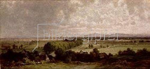 Dietrich Langko: Die München-Dachauer Landstraße. 1855.