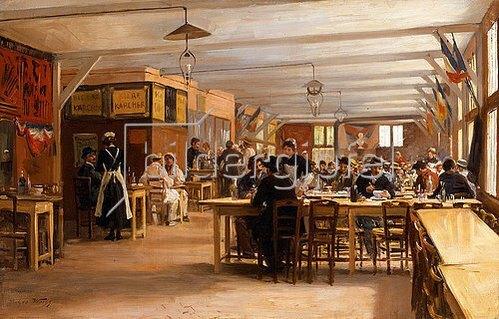 Emile Georges Weiss: In einem Kaffeehaus.
