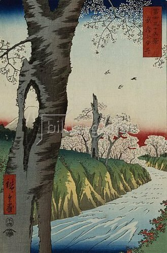 Utagawa Hiroshige: Koganei in Musashi Province', from the series 'Thirty-six Views of Mt. Fuji '.