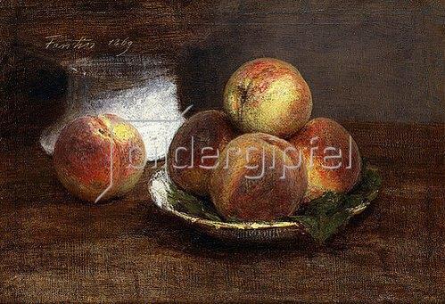 Henri de Fantin-Latour: Eine Schale mit Pfirsichen (Le Bol de Pêches). 1869