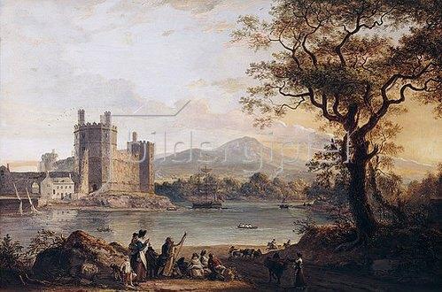 Paul Sandby: Caernarvon Castle. Wohl 1790er Jahre