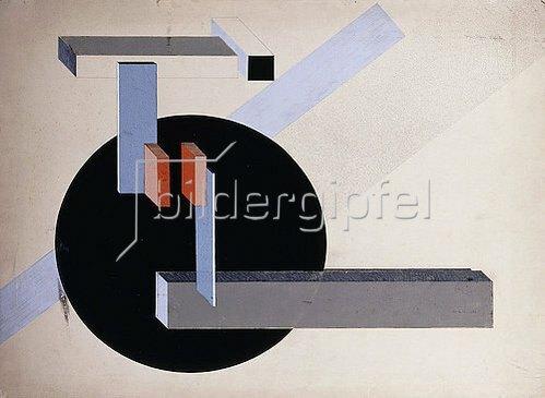 El Lissitzky: Proun N 89 (Kilmansvaria). Um 1925