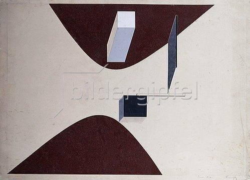 El Lissitzky: Proun N 90 (Ismenbuch). 1925