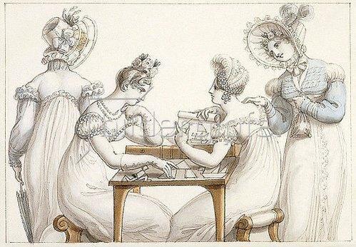 Edward Francis Burney: Damen beim Fertigen von Scherenschnitten.