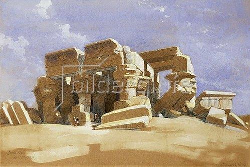 David Roberts: Der Tempel Kom Ombo in Ägypten. 1838