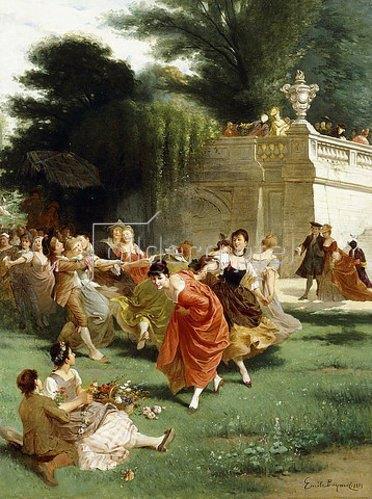 Emile Antoine Bayard: Tanz im Freien (Fête Champêtre). 1878