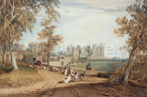 Joseph Mallord William Turner: Cassiobury House mit einer Jagdgesellschaft.