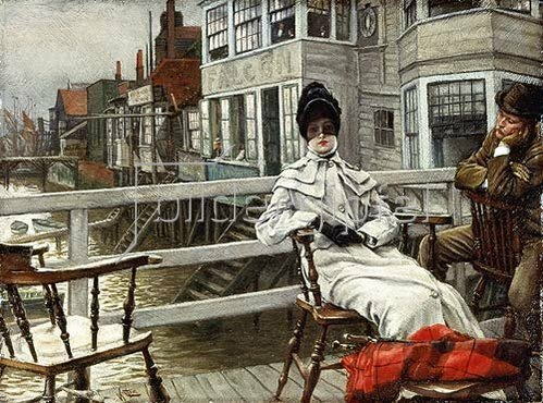 James Jacques Tissot: In Erwartung des Bootes (Greenwich).