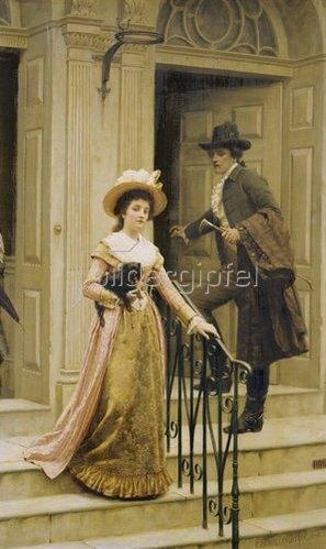 Edmund Blair Leighton: Meine Nachbarin. 1894