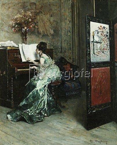 Raimundo de Madrazo y Garreta: Dame beim Klavierspiel.