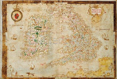 Laurence Nowell: Eine allgemeine Darstellung von England und Irland. 1564