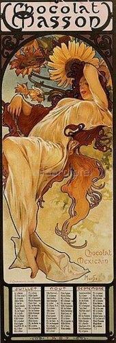 Alfons Mucha: Chocolat Masson - Winter. 1897