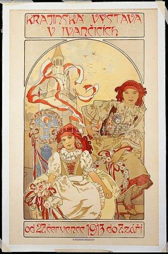 Alfons Mucha: Krajinska Vystava V Ivancicich. 1912