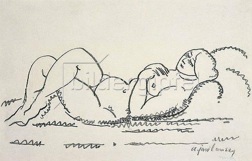 Alexej von Jawlensky: Weiblicher Akt. Um 1912