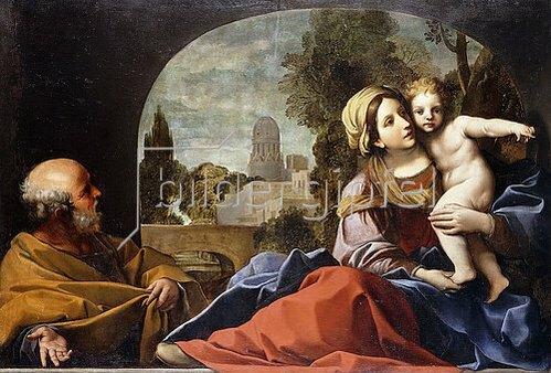 Alessandro Tiarini: Die heilige Familie.