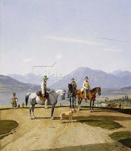 Wilhelm von Kobell: Reiter am Tegernsee. 1838