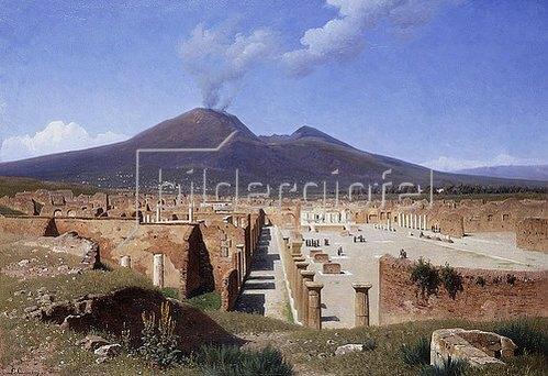 Louis Spangenberg: Der Vesuv, Blick von Pompeji. 1883