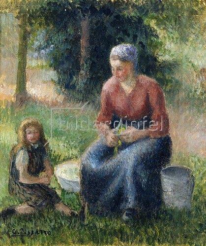 Camille Pissarro: Bäuerin in Eragny. Um 1903