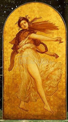 Frederic Leighton: The Dance of the Cymbalists. Aus einer Reihe von fünf Bildern, gemalt im Auftrag von Percy Wyndham für den Treppenaufgang seines Hauses 44 Belgrave Square in London.