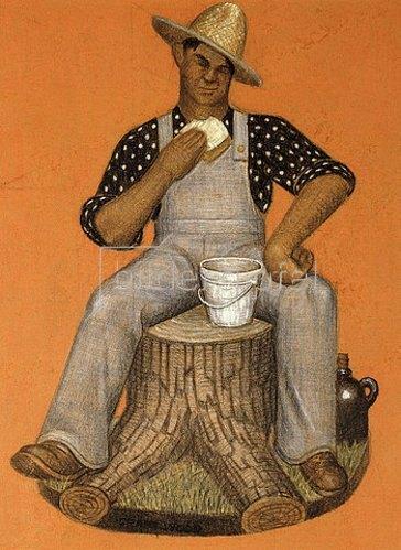 Grant Wood: Der Lohnarbeiter.
