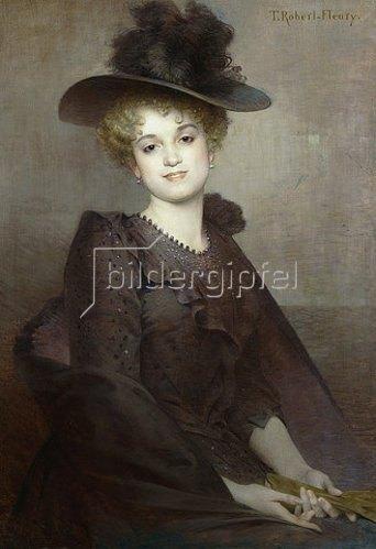 Tony Robert-Fleury: Porträt einer jungen Frau.