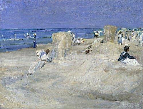 Max Liebermann: Am Strand von Nordwijk. 1908.