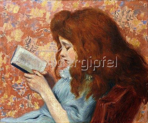Federico Zandomeneghi: Lesendes Mädchen.