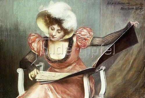 Pierre Carrier-Belleuse: Junge Frau beim Studieren von Noten. 1901