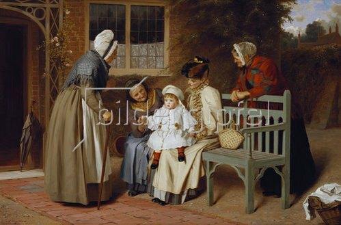 James Hayllar: Der Mittelpunkt der Familie.