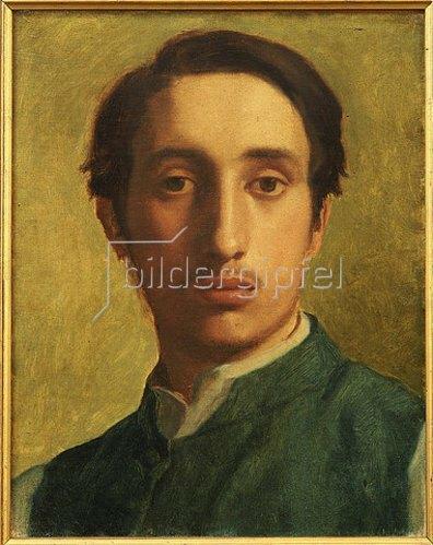 Edgar Degas: Degas mit grüner Weste (Degas en Gilet Vert). Um 1855-56