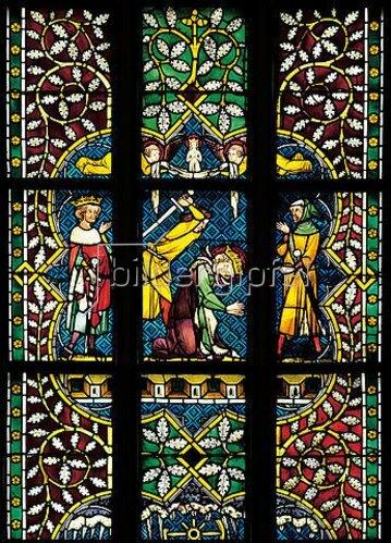 Menschwerdung Christi. Buntglasfenster im Chorumgang. Kurz vor 1330.