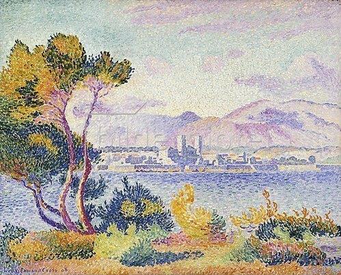 Henri Edmond Cross: Antibes, Nachmittags (Antibes, Apres-midi). 1908