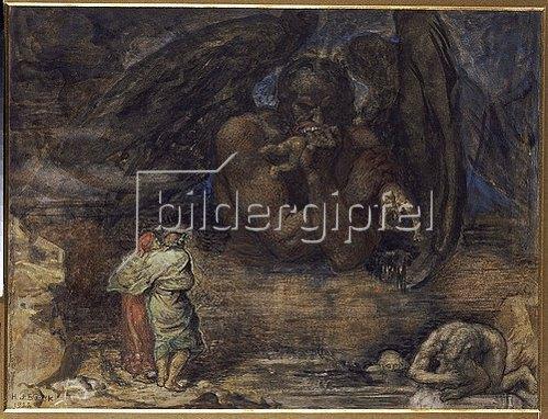 Henry John Stock: Dante und Vergil treffen in der Hölle auf Luzifer. 1923