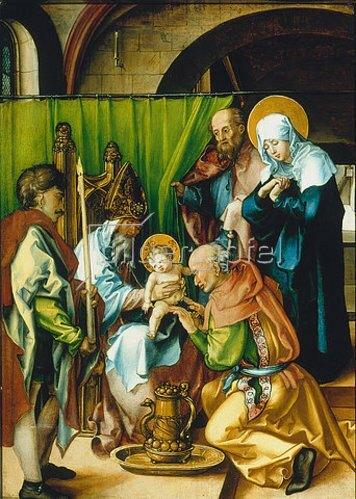 Albrecht Dürer: Altar: Die sieben Schmerzen der Mariae. Tafel oben links. 1495/96