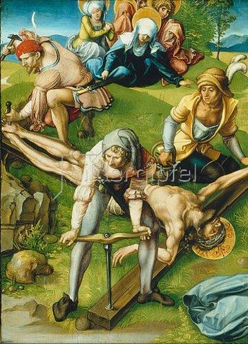 Albrecht Dürer: Altar: Die sieben Schmerzen der Mariae. Tafel oben links. Detail: Tafel unten rechts. 1495/96