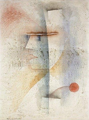 Paul Klee: Bildinis eines Kostümierten (mit Blume). 1929
