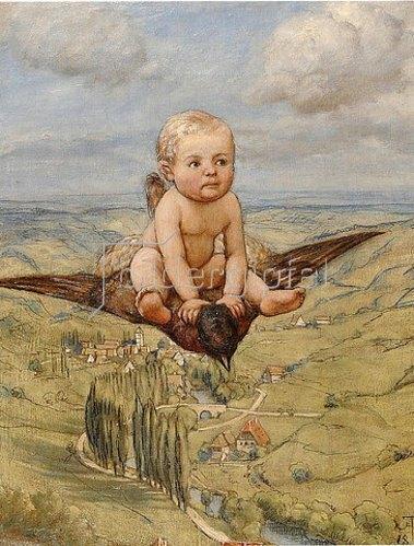 Hans Thoma: Ritt auf dem Vogel. 1885