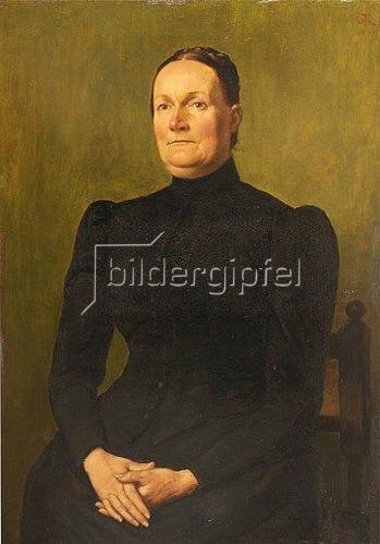 Hans Thoma: Bildnis Küchler-Genth, Elise. 1898