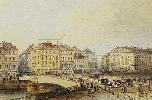 Rudolf von Alt: Ferdinandbrücke.