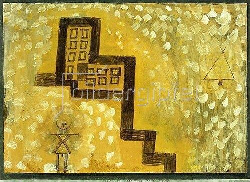 Paul Klee: Das Haus in der Höhe. 1923