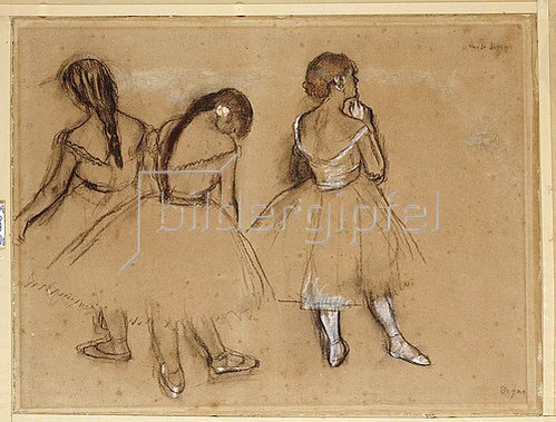 Edgar Degas: Drei Tänzerinnen (Trois Danseuses). Um 1880