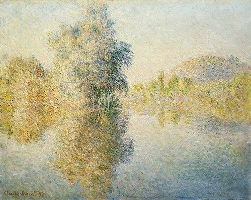 Claude Monet: Die Seine bei Giverny am frühen Morgen (Matin sur la Seine a Giverny). 1893.