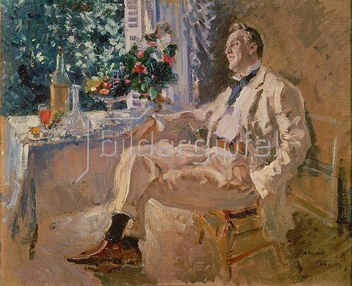 Alexejew. Konstantin Korovin: Bildnis des Sängers Fjodor Schaljapin. 1922.