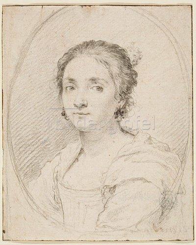 Claude Mellan: Portrait der Virginia de Vezzo da Velletri.