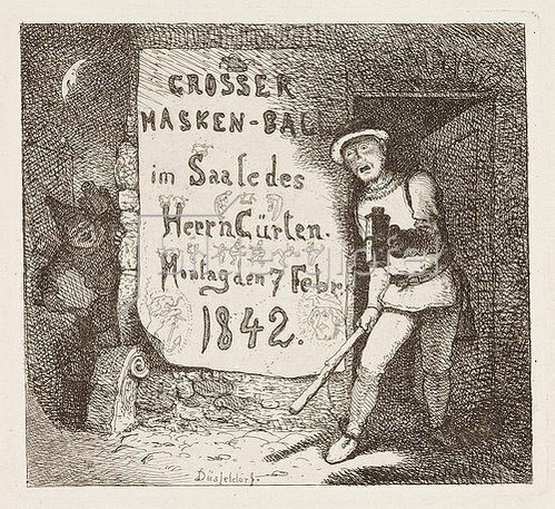 Andreas Achenbach: Großer Maskenball.